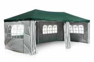 VCM Pavillon Partyzelt grün 3x6m PE 110g/m² Gartenzelt Festzelt Eventzelt Marktzelt