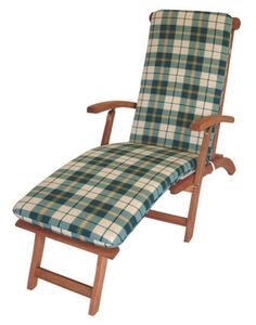 DEGAMO Auflage BOSTON für Deckchair, grün/beige kariert