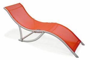 VCM Sonnenliege klappbar orange Stahl Relaxliege Liegestuhl Gartenliege
