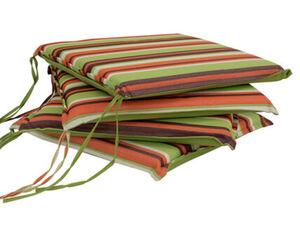 DEGAMO Auflage MALLAWI für Stuhl, hellgrün gestreift, 4 Stück