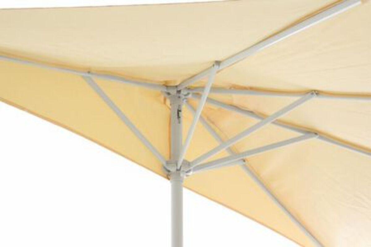 Bild 4 von VCM Balkon-Sonnenschirm beige halbrund Gartenschirm Sonnenschutz 2,7m mit Kurbel