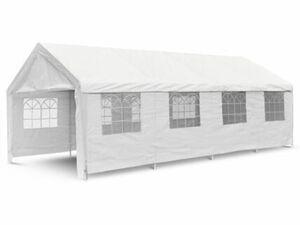 VCM Festzelt Partyzelt Bierzelt weiß 4x8 m PE Dach 180 g/m² wasserdicht Stahlrohre
