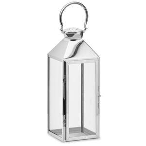 Gartenfreude Laterne Edelstahl Lampe, ohne LED Kerze, Silber ohne LED, 14 x 15 x 40 cm