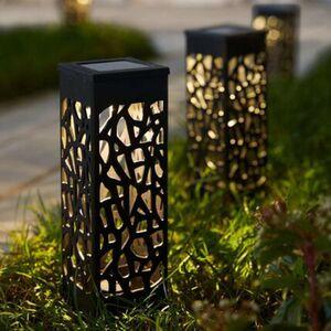 Pureday Solarleuchten-Set, 2-tlg. 'Garden Lights', Schwarz