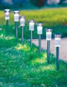 7er-Pack LED-Edelstahl-Solarleuchte