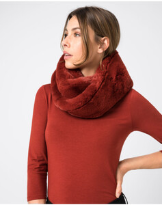 Hallhuber Snood aus Fake-Fur für Damen Gr. One Size in rost