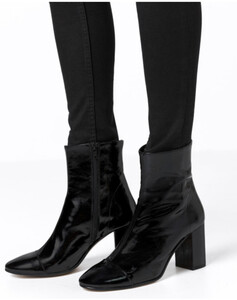 Hallhuber Stiefeletten aus Lackleder für Damen in schwarz