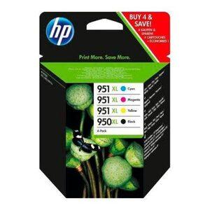 HP »950XL + 951XL Original Kombi-Pack Schwarz, Cyan, Magenta, Gelb - C2P43AE -« Tintenpatrone