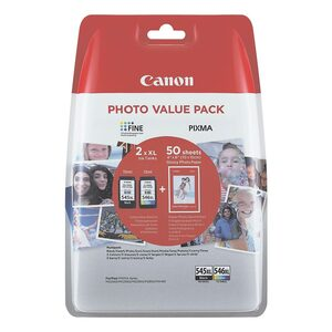 Canon Photo Value Pack: Tintenpatronen-Set & »CL-546XL« + Fotoglanzp »PG-545XL«