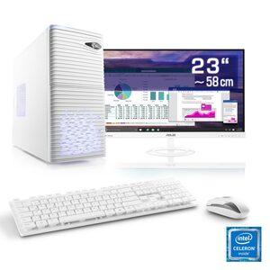 "CSL Office PC Set, Intel QuadCore, Intel HD, 8 GB RAM, 23"" TFT »Speed T1912 Windows 10 Home«"