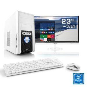 "CSL Office PC Set, Intel QuadCore, Intel HD, 4 GB RAM, 23"" TFT »Speed T1115 Windows 10 Home«"