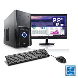 "CSL Office PC Set, Intel QuadCore, Intel HD, 4 GB RAM, 22"" TFT »Speed T1415 Windows 10 Home«"