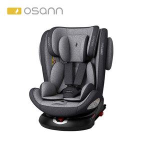 Kindersitz Swift Klasse 1 / 2 / 3, für Kinder von 9 - 36 kg, 10-fach höhenverstellbare Kopfstütze, einklappbare Isofix-Verbinder