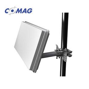 Flat-Sat-Antenne H30D+ Twin • integr. Twin-LNB • inkl. Fenster-/Balkon-/Wand-Halterung und Standfuß • Maße: H 27,7 x B 51,7 x T 5,8 cm