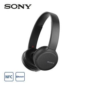 Bluetooth®-Kopfhörer WH-CH510B • bis zu 35 h Akkulaufzeit • Quick-Charge Funktion • Headset-Funktion  *Einklinker: eingeb. Google/Siri Assistant *Logos: Icon_Bluetooth + Icon_NFC  *UVP: 49,90