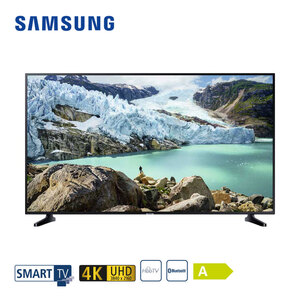 "UE55RU7099 • 3 x HDMI, 2 x USB, CI+ • integr. Kabel-, Sat- und DVB-T2-Receiver • Maße: H 71,4 x B 123,9 x T 5,9 cm • Energie-Effizienz A (Spektrum A++ bis E) • Bildschirmdiagonale: 55"" / 1"
