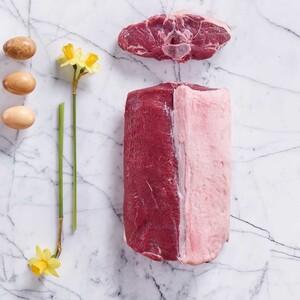 Frischer Neuseeland Lammsattel Lammrücken mit Knochen,  je 100 g