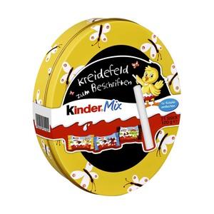 Ferrero Kinder Mix Blechdose mit Kreidefeld zum Beschriften jede 120-g-Dose