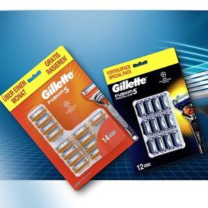 Gillette Fusion5 oder Fusion5 Proglide Rasierklingen jede 14er/12er-Packung