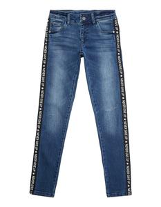 Mädchen Skinny Fit Jeans mit Kontraststreifen