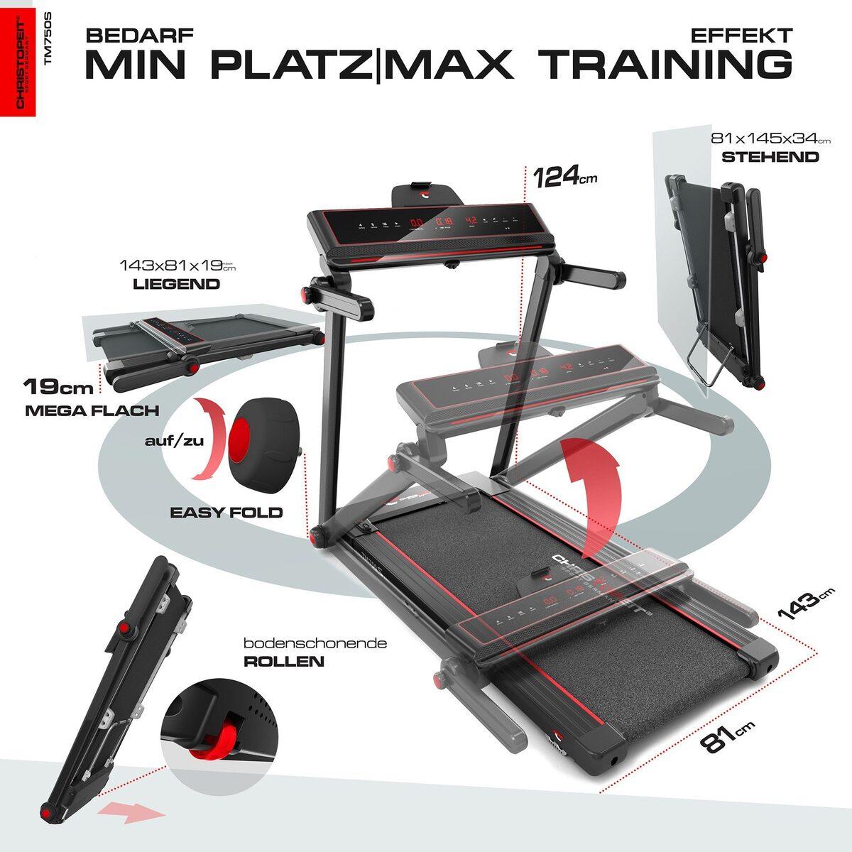 Bild 2 von Christopeit Sport® Laufband »TM 750 S«, 100% vormontiert, nur 19 cm flach
