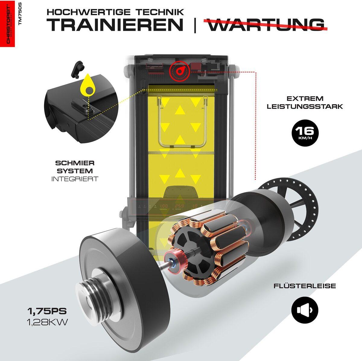 Bild 4 von Christopeit Sport® Laufband »TM 750 S«, 100% vormontiert, nur 19 cm flach