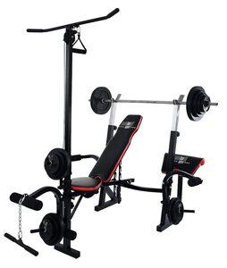 Christopeit Sport® Hantelbank »Power XL«, (Set, mit Langhantelstange)