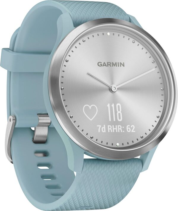 Garmin vivomove HR Fitness-Tracker im klassischen Uhrendesign (S/M) Fitnessband (4,2 cm/1,65 Zoll)