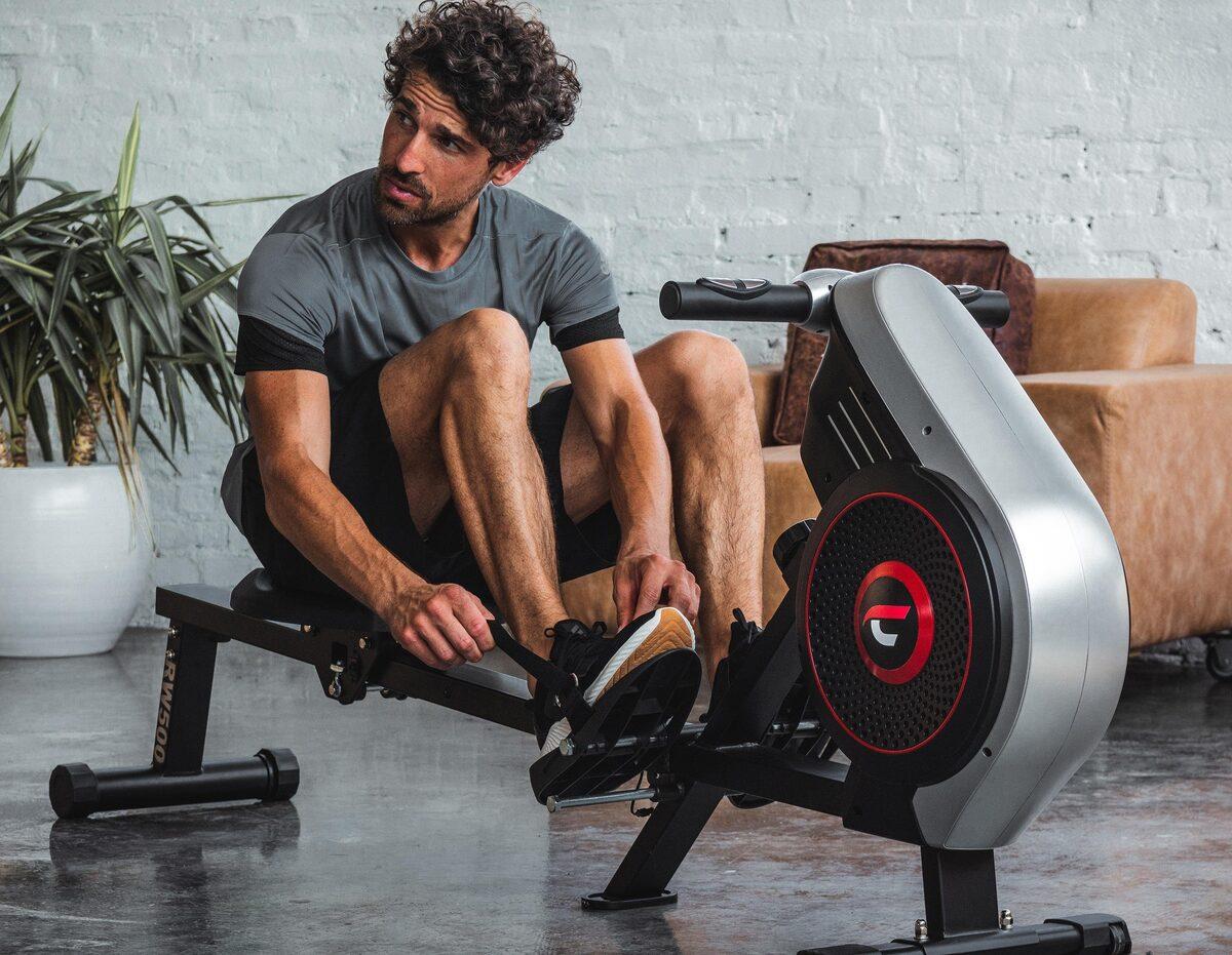 Bild 5 von Christopeit Sport® Ruderzugmaschine »Ruderzugmaschine RW 500«, Ruderschiene platzsparend hochklappbar