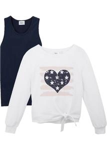 Mädchen Sweatshirt + Top (2-tlg.)