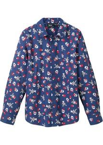 Jungen Langarmhemd mit Weihnachtsmotiv, Slim Fit