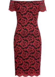 Carmen-Kleid mit Spitze