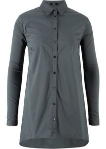 Langärmelige Zipfel-Bluse, kaschierend