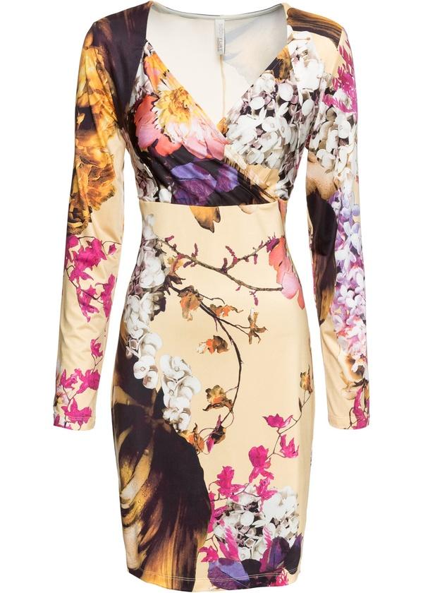 Jersey-Kleid mit Blumen-Print von Bonprix ansehen!