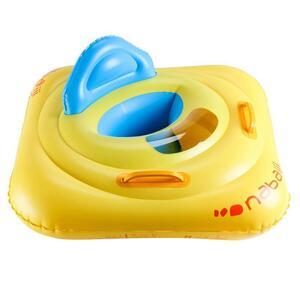 Schwimmsitz mit Sichtfenster und Griffen für Babys 7–11 kg gelb