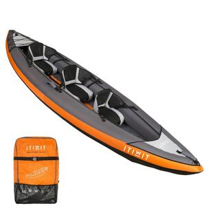 Kajak aufblasbar Touring 3-Sitzer orange