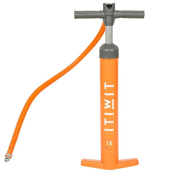 Handpumpe Stand Up Paddle Hochdruckpumpe 20 PSI Doppelhub orange