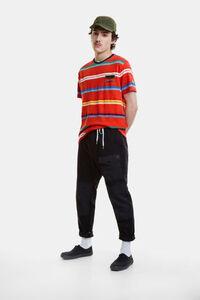T-Shirt mit Jacquard-Streifen