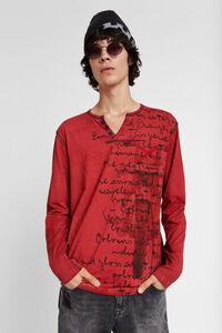 Shirt mit Motorrad und Message