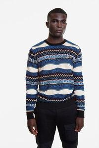 Pullover mit unregelmäßigen Streifen