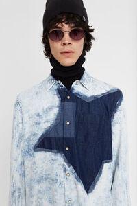 Jeans-Hemd aus 100% Baumwolle