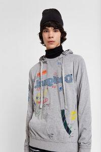 Arty Sweater mit Kapuze
