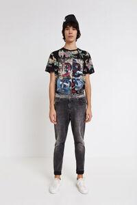 Shirt mit Patch und Mustern