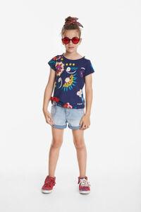 Shirt mit Blumenmuster und Schlitzen