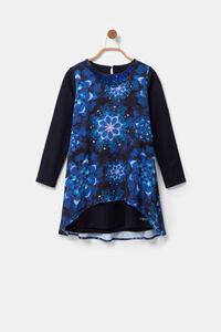 Kleid mit Mandalas in Batik-Optik
