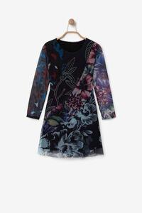 Kleid mit Blumenprint und 3D-Effekt