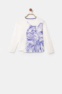 Asymmetrisches Shirt mit Bolimania-Print