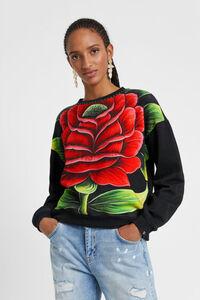 Sweatshirt mit Blume