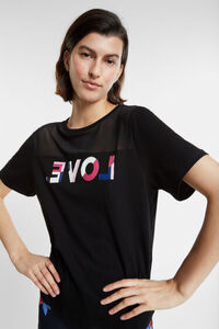 Bio-T-Shirt LOVE mit Transparenz