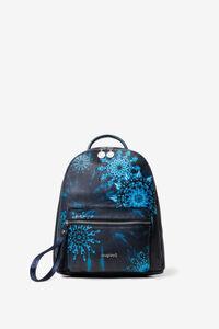 Mini-Rucksack mit blauen Mandalas